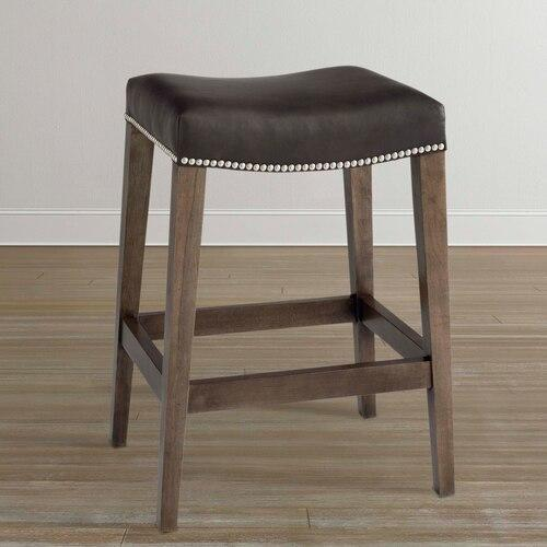 Bench*Made Oak Bar Saddle Stool