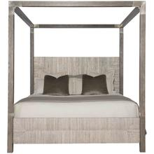 California King-Sized Palma Canopy Bed in Rustic Gray