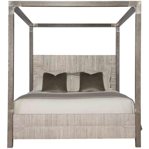 California King Palma Canopy Bed in Rustic Gray
