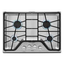 30-inch Wide Gas Cooktop with Power Burner Stainless Steel