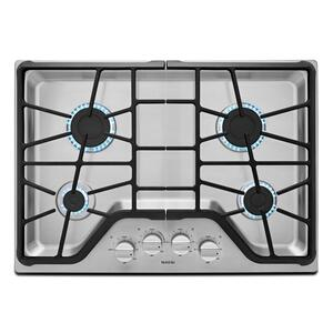 30-inch Wide Gas Cooktop with Power Burner Stainless Steel - STAINLESS STEEL