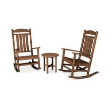 View Product - Presidential 3-Piece Rocking Chair Set in Teak