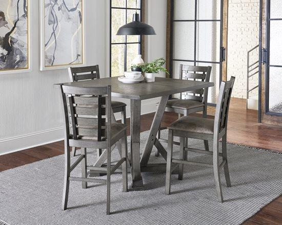 Counter Height Table - Harbor Gray Finish