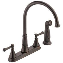 Venetian Bronze Two Handle Kitchen Faucet with Spray