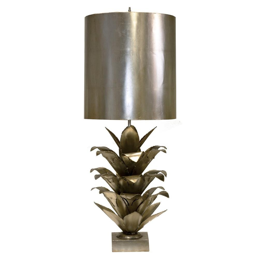 """Inspired By Its Mid Century Modernist Roots, the Arianna Brutalist Palm Tree Lamp Brightens Up Any Room With Dazzling Style. A Brilliant Silver Leaf Finish With Coordinating Metal Shade Completes the Vintage Look. Did You Get It At the Paris Flea Market"""" We'll Never TELL..."""