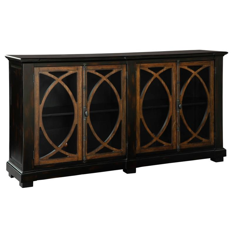 2-8026 Four Door Circle Lattice Entertainment Center