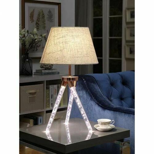 ACME Cici Table Lamp - 40134 - Rose Gold