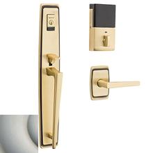 Satin Nickel Evolved Palm Springs Full Escutcheon Handleset