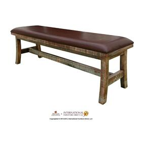 Breakfast & Bedroom Bench with Faux Leather Seat