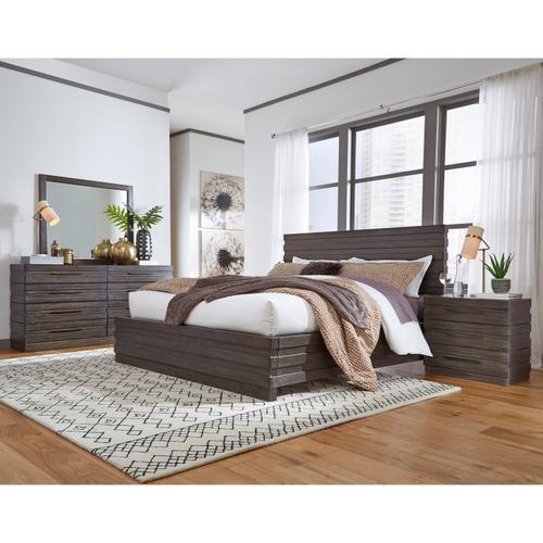 Stackhaus Queen Footboard and Slat Roll in Dark Brown