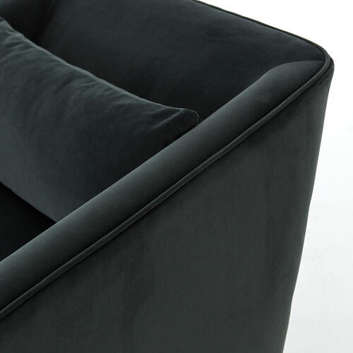 Modern Velvet Smoke Cover York Swivel Chair