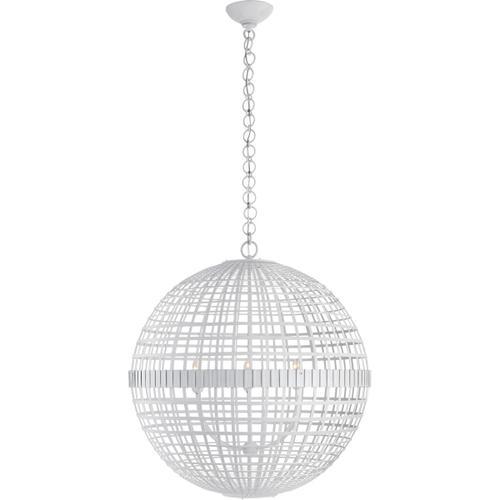Visual Comfort - AERIN Mill 6 Light 30 inch Plaster White Globe Lantern Ceiling Light, Large