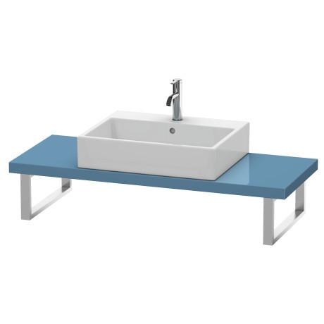 Console For Above-counter Basin And Vanity Basin Compact, Stone Blue High Gloss (lacquer)