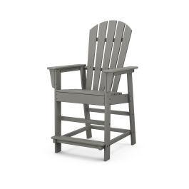 Polywood Furnishings - South Beach Counter Chair in Slate Grey