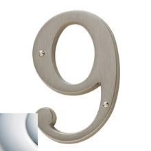 Polished Chrome House Number - 9