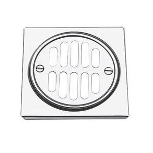 White Shower Drain Trim Set