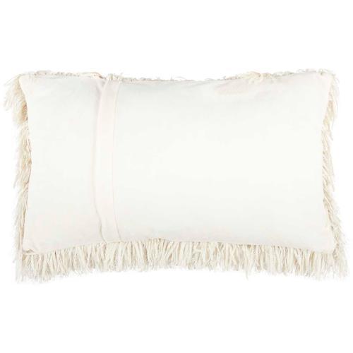 "Shag Tl048 Ivory 14"" X 24"" Throw Pillow"