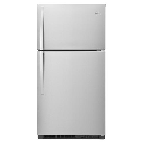 33-inch Wide Top Freezer Refrigerator - 21 cu. ft. Monochromatic Stainless Steel