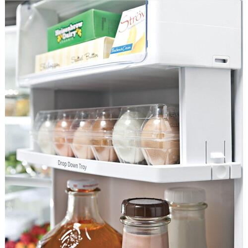 GE Profile™ ENERGY STAR® 23.1 Cu. Ft. Counter-Depth Fingerprint Resistant French-Door Refrigerator
