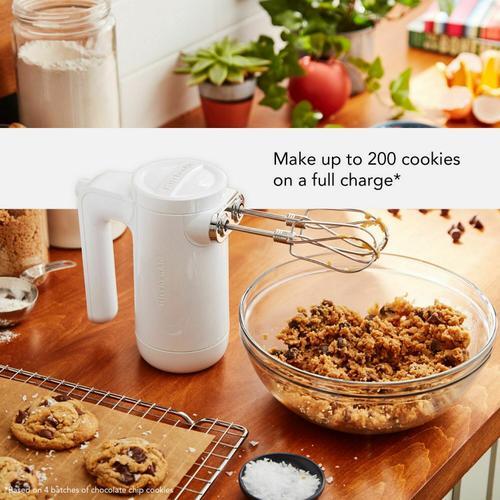 KitchenAid - Cordless 7 Speed Hand Mixer - White