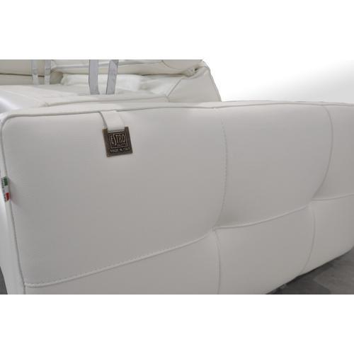 VIG Furniture - Estro Salotti Duca Modern White Leather Sofa Set w/ Recliners