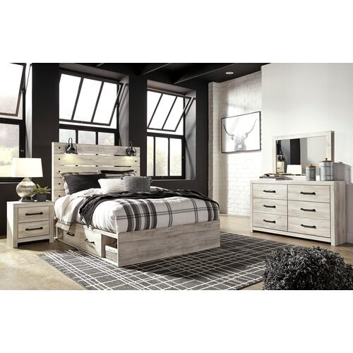 Cambeck - Whitewash 5 Piece Bed (Queen)