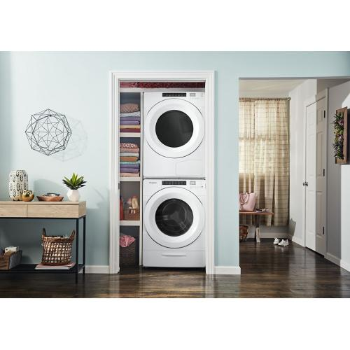 Whirlpool - 7.4 cu.ft Front Load Heat Pump Dryer with Intiutitive Touch Controls, Advanced Moisture Sensing
