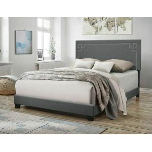 ACME Ishiko II Queen Bed - 20910Q - Gray Fabric