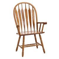 Classic Oak Chestnut Arrow Arm Chair Product Image