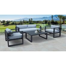 Renava Weber - Modern Outdoor Grey & Black Sofa Set