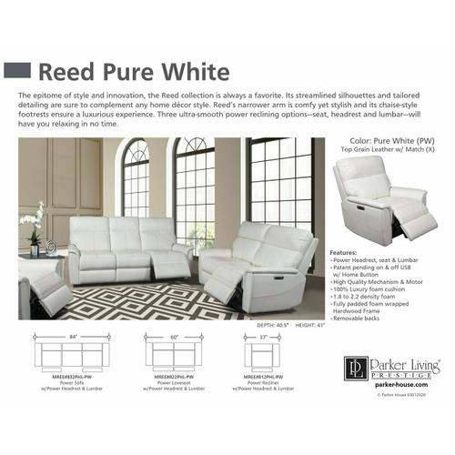 REED - PURE WHITE Power Recliner