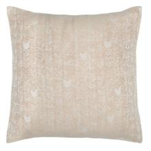 French Herringbone Natural Euro Sham 26x26