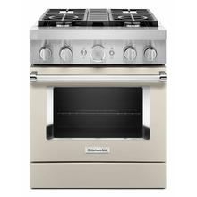 View Product - KitchenAid® 30'' Smart Commercial-Style Dual Fuel Range with 4 Burners - Milkshake