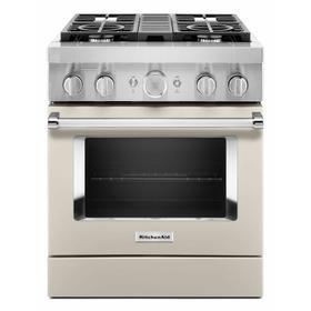 KitchenAid® 30'' Smart Commercial-Style Dual Fuel Range with 4 Burners - Milkshake