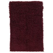 New Flokati Burgundy 2ft4inx4ft