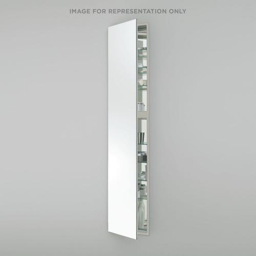 """M Series 15-1/4"""" X 70"""" X 4"""" Full Length Cabinet With Polished Edge, Left Hinge and Non-electric"""