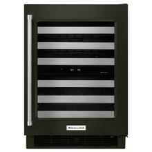 """See Details - 24"""" Stainless Steel Wine Cellar with Metal-Front Racks - Black Stainless Steel with PrintShield™ Finish"""