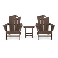View Product - Wave 3-Piece Adirondack Set with The Ocean Chair in Mahogany