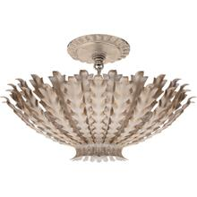 AERIN Hampton 3 Light 17 inch Burnished Silver Leaf Chandelier Ceiling Light, Small