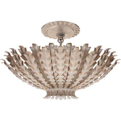 AERIN Hampton 3 Light 17 inch Burnished Silver Leaf Chandelier Ceiling Light, Small