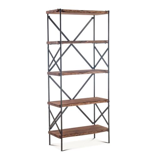 """Organic Forge Tall Bookshelf 34"""" Raw Walnut"""