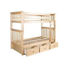 See Details - Twin/Twin Bunk + 3 Drawer Storage Natural