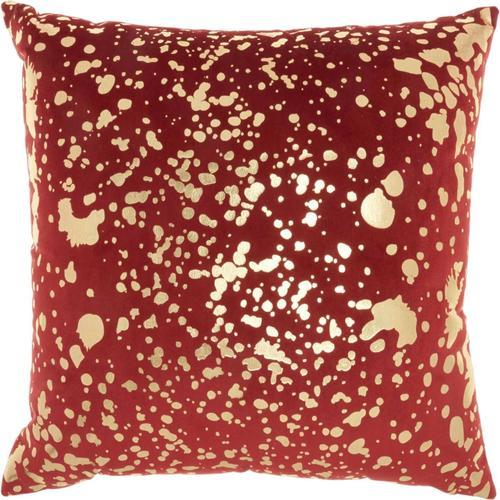 "Luminescence Qy168 Deep Red 18"" X 18"" Throw Pillow"