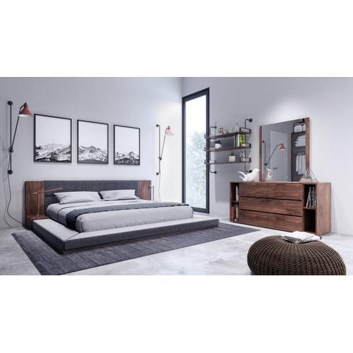 VIG Furniture - Nova Domus Jagger Modern Dark Grey & Walnut Bed