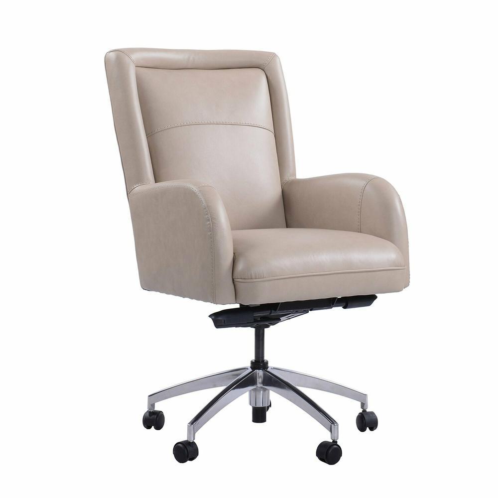 See Details - DC#130 Verona Linen - DESK CHAIR Leather Desk Chair