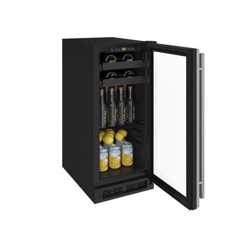 "1215bev 15"" Beverage Center With Stainless Frame Finish (115 V/60 Hz Volts /60 Hz Hz)"