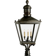E. F. Chapman Sussex 3 Light 38 inch Bronze Outdoor Post Lantern