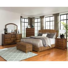 View Product - Laughton Rustic Brown Eastern King Four-piece Set