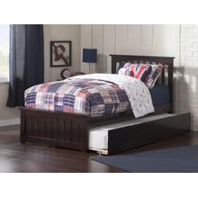 Mission Twin Bed with Matching Foot Board with Urban Trundle Bed in Espresso