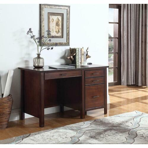 Coaster - Traditional Red Brown Writing Desk